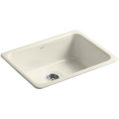 Iron Tones 24-1/4 x 18-3/4 x 8-1/4 Top-Mount/Under-Mount Single-Bowl Kitchen Sink Finish: Almond