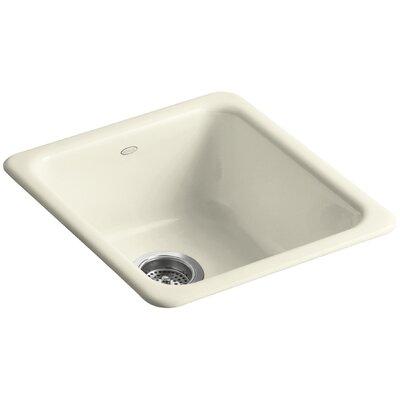 Iron/Tones 17 x 18-3/4 x 8-1/4 Top-Mount/Under-Mount Single-Bowl Kitchen Sink Finish: Cane Sugar