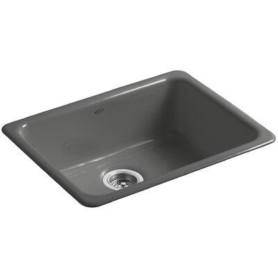 Iron/Tones 24-1/4 x 18-3/4 x 8-1/4 Top-Mount/Under-Mount Single-Bowl Kitchen Sink Finish: Thunder Grey