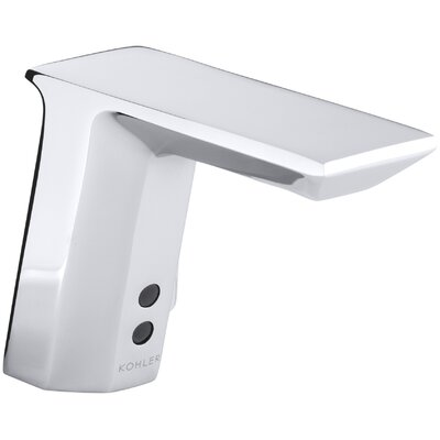 Geometric Single-Hole Touchless Hybrid Energy Cell-Powered Commercial Bathroom Sink Faucet with Insight Technology and 6-3/4