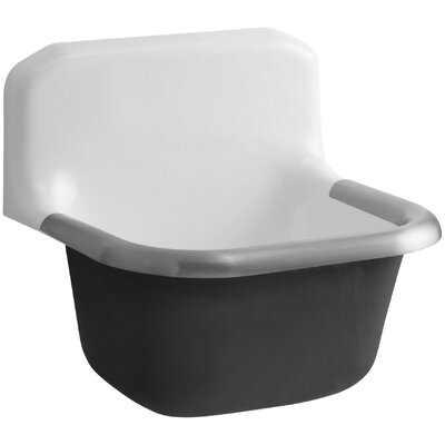 Bannon 24 x 20.25 Single Wall-Mounted or P-Trap Mounted Service Sink