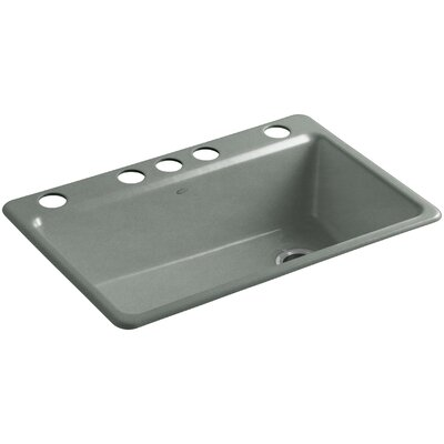 Riverby 33 x 22 x 9-5/8 Under-Mount Single-Bowl Kitchen Sink with Accessories Finish: Basalt