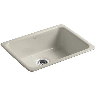 Iron Tones 24-1/4 x 18-3/4 x 8-1/4 Top-Mount/Under-Mount Single-Bowl Kitchen Sink Finish: Sandbar