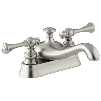 Revival Centerset Double Handle Bathroom Faucet with Drain Assembly Finish: Vibrant Brushed Nickel