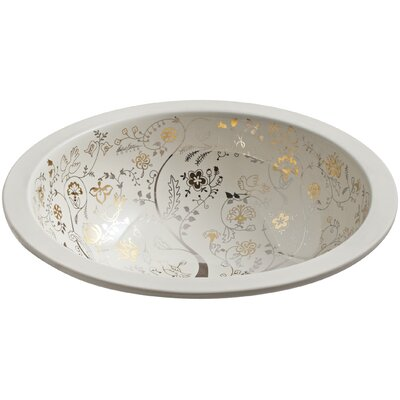 Mille Fleurs Circular Undermount Bathroom Sink