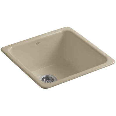 Iron Tones 20-7/8 x 20-7/8 x 10 Top-Mount/Under-Mount Single-Bowl Kitchen Sink Finish: Mexican Sand