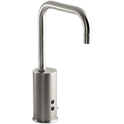 Gooseneck Single-Hole Touchless Hybrid Energy Cell-Powered Commercial Faucet with Insight Technology and Temperature Mixer Finish: Vibrant Stainless