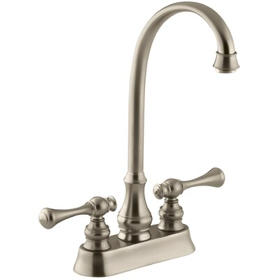 Revival Two-Hole Centerset Bar Sink Faucet with Traditional Lever Handles Finish: Vibrant Brushed Bronze