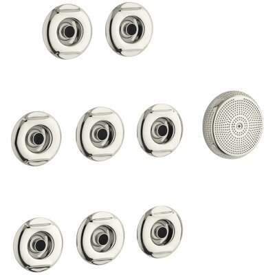 Flexjet Whirlpool Trim Kit with Eight Jets Finish: Vibrant Polished Nickel