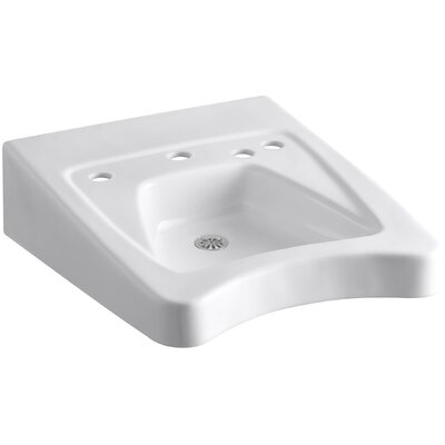 Morningside Ceramic 21 Wall Mount Bathroom Sink with Overflow Finish: White
