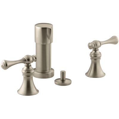 Revival Vertical Spray Bidet Faucet with Traditional Lever Handles Finish: Vibrant Brushed Bronze
