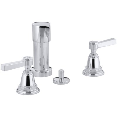 Pinstripe Pure Vertical Spray Bidet Faucet with Lever Handles Finish: Polished Chrome