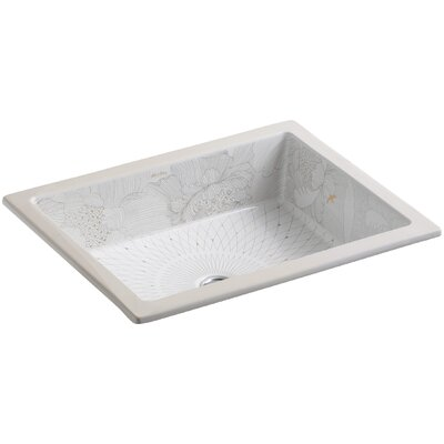 Empress Bouquet Rectangular Undermount Bathroom Sink