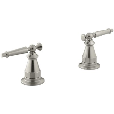 Antique Deck-Mount High-Flow Bath Valve Trim with Lever Handles, Valve Not Included Finish: Vibrant Brushed Nickel