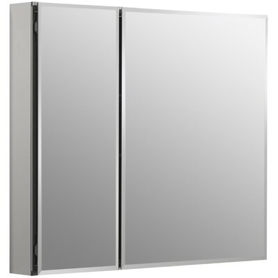 30 W x 26 H Aluminum Two-Door Medicine Cabinet with Mirrored Doors, Beveled Edges