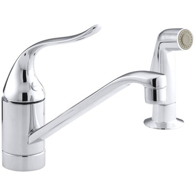 Coralais Two-Hole Kitchen Sink Faucet with 8-1/2