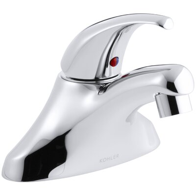 Coralais Centerset Commercial Bathroom Sink Faucet with 0.5 GPM Spray and 3-1/4 Lever Handle, Drain Not Included and Lift Rod Hole
