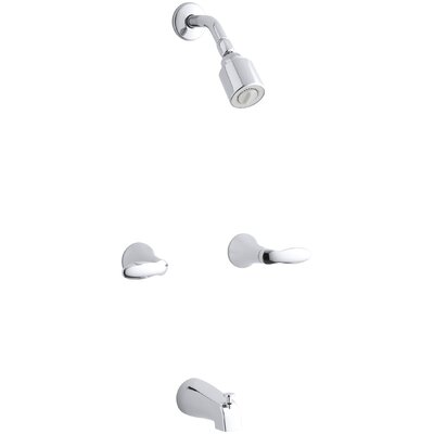 Coralais Bath/Shower Trim Set with Lever Handles, Valve Not Included Finish: Polished Chrome