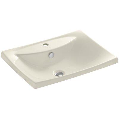 Escale Self Rimming Bathroom Sink Finish: Almond