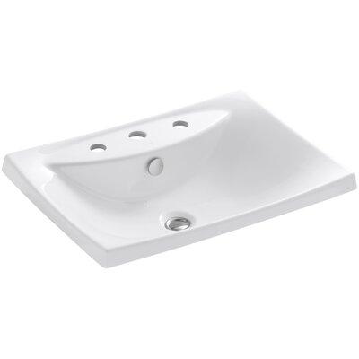 Escale Self Rimming Bathroom Sink 8 Finish: White