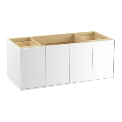 Jute 48 Vanity with 2 Doors and 2 Drawers, Split Top Drawer Finish: Linen White