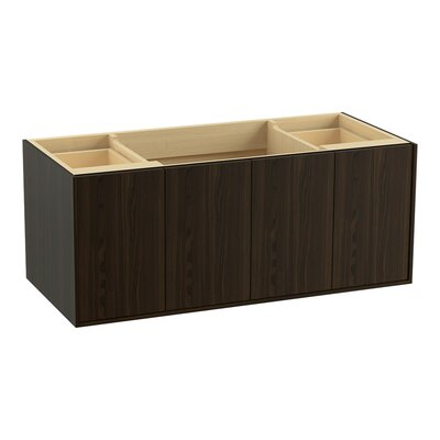 Jute 48 Vanity with 2 Doors and 2 Drawers, Split Top Drawer Finish: Jersey Oak