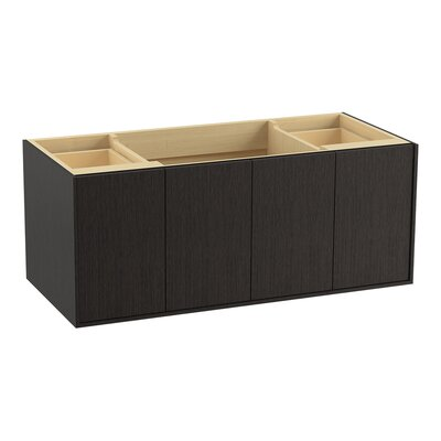 Jute 48 Vanity with 2 Doors and 2 Drawers, Split Top Drawer Finish: Satin Oak