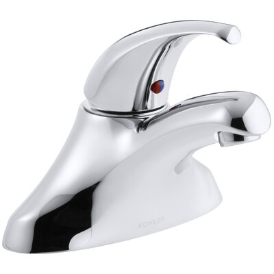 Coralais Centerset Commercial Bathroom Sink Faucet with Lever Handle and Ground Joints, Drain Not Included K-15199-P-CP