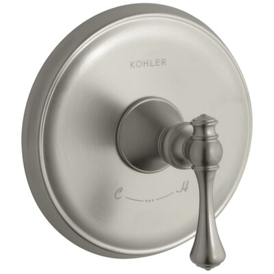 Revival Valve Trim with Traditional Lever Handle for Thermostatic Valve, Requires Valve Finish: Vibrant Brushed Nickel