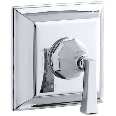 Memoirs Stately Valve Trim with Deco Lever Handle for Rite-Temp Pressure-Balancing Valve, Requires Valve Finish: Polished Chrome