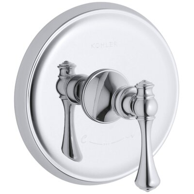 Revival Valve Trim with Traditional Lever Handle for Thermostatic Valve, Requires Valve Finish: Polished Chrome