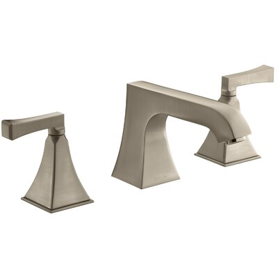 Memoirs Stately Deck-Mount High-Flow Bath Faucet Trim with Non-Diverter Spout and Deco Lever Handles, Valve Not Included Finish: Vibrant Brushed Bronze