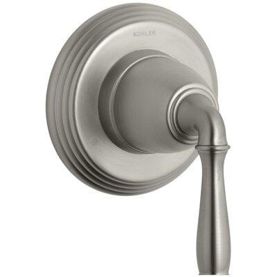 Devonshire Valve Trim for Transfer Valve with Lever Handle, Requires Valve Finish: Vibrant Brushed Nickel K-T376-4-BN
