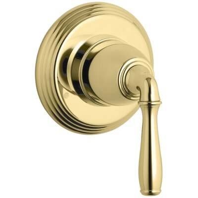 Devonshire Valve Trim for Transfer Valve with Lever Handle, Requires Valve Finish: Vibrant Polished Brass