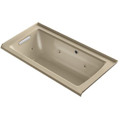 Archer Alcove Whirlpool with Bask� Heated Surface, Tile Flange and Left-Hand Drain Finish: Mexican Sand