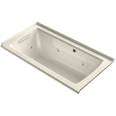 Archer Alcove Whirlpool with Bask� Heated Surface, Tile Flange and Left-Hand Drain Finish: Almond