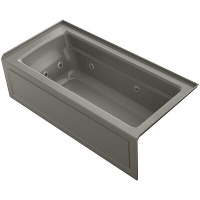 Archer Integral Apron Whirlpool with Tile Flange, Right-Hand Drain and Heater Finish: Cashmere