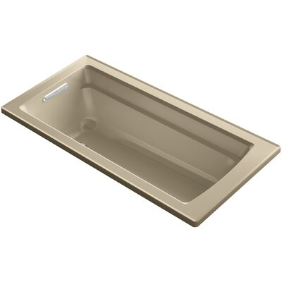 Archer Drop-in Vibracoustic Bath with Reversible Drain Finish: Mexican Sand