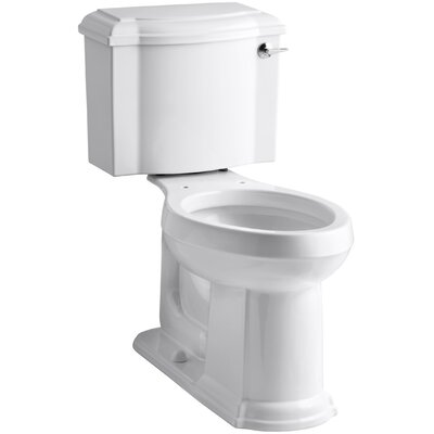 Devonshire Comfort Height Two-Piece Elongated 1.28 GPF Toilet with Aquapiston Flush Technology and Right-Hand Trip Lever Finish: White