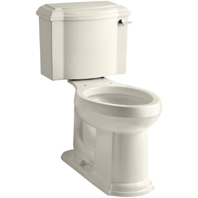 Devonshire Comfort Height Two-Piece Elongated 1.28 GPF Toilet with Aquapiston Flush Technology and Right-Hand Trip Lever Finish: Almond