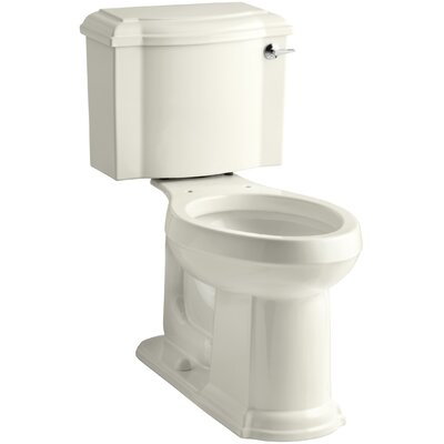 Devonshire Comfort Height Two-Piece Elongated 1.28 GPF Toilet with Aquapiston Flush Technology and Right-Hand Trip Lever Finish: Biscuit