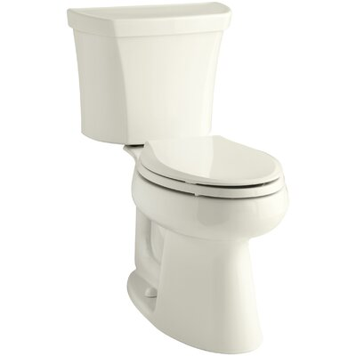Highline Comfort Height 2-Piece Elongated Dual-Flush Toilet with Class Five Flush Technology and Right-Hand Trip Lever Finish: Biscuit