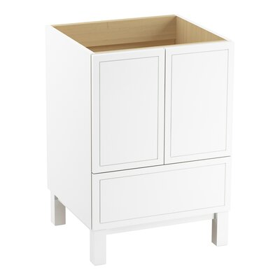 Jacquard� 24 Vanity with Furniture Legs, 2 Doors and 1 Drawer Finish: Linen White