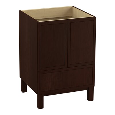 Jacquard 24 Vanity with Furniture Legs, 2 Doors and 1 Drawer Finish: Cherry Tweed