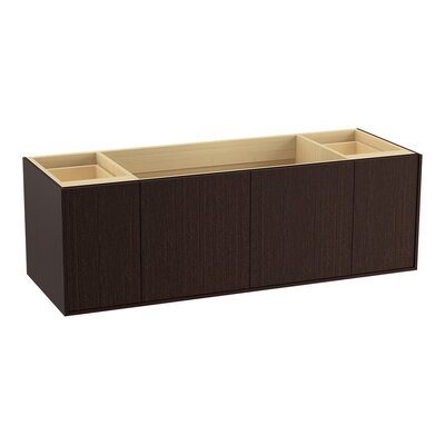 Jute 60 Vanity with 2 Doors and 2 Drawers, Split Top Drawer Finish: Laurentii Silk