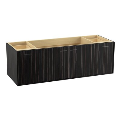 Jute� 60 Vanity with 2 Doors and 2 Drawers, Split Top Drawer Finish: Ebony Velour