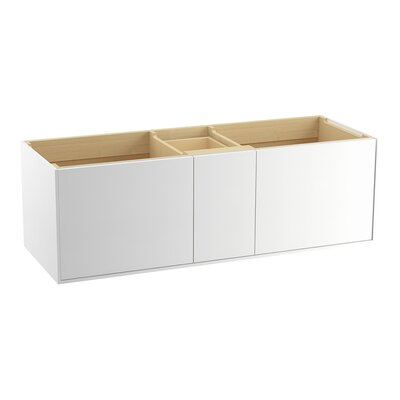 Jute� 60 Vanity with 2 Doors and 1 Split Drawer Finish: Linen White