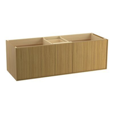Jute� 60 Vanity with 2 Doors and 1 Split Drawer Finish: Corduroy Teak
