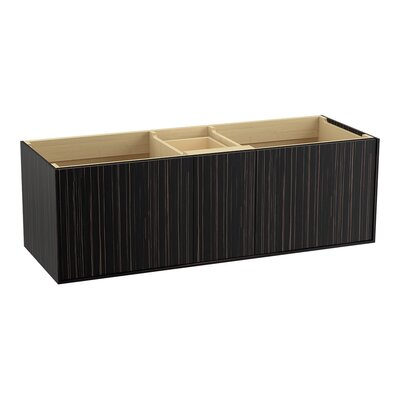 Jute� 60 Vanity with 2 Doors and 1 Split Drawer Finish: Ebony Velour