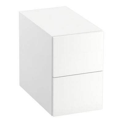 Poplin�/Marabou� 2-Drawer Bridge Finish: Linen White